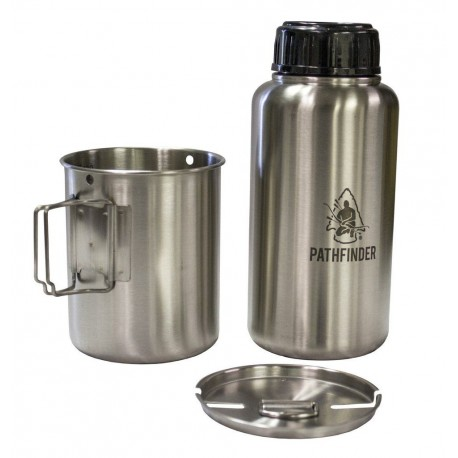 Stainless Steel Bottle and nesting set Pathfinder