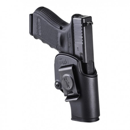 The slim design makes the SHS holster the perfect choice for the inner port of our Glock pistol belt.Made of polymers to ensure